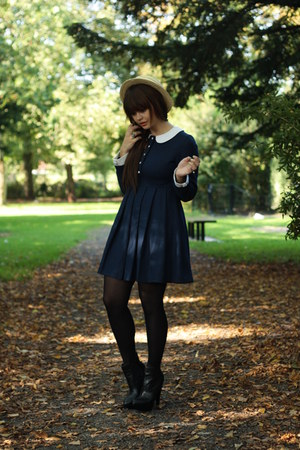 Chicwish dress - asos boots - vintage hat