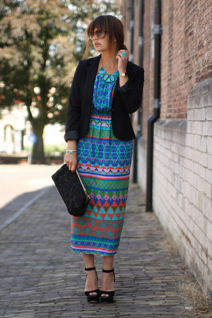 Sassy and Sophisticated necklace - Solilor dress - Zara bag - romwe sunglasses