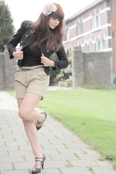 ployy jacket - Bershka shorts - vintage shoes