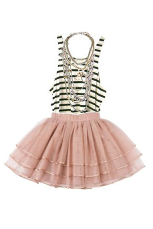 necklace - top - pink skirt