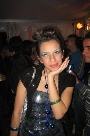 black Effetti jacket - silver Zara dress - silver purse