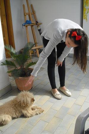 red unknown brand accessories - beige mocassini shoes - black Calzedonia legging