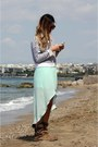 Light-brown-zara-boots-aquamarine-zara-top-aquamarine-zara-skirt
