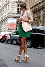 Chartreuse-zara-dress-light-pink-zara-blazer
