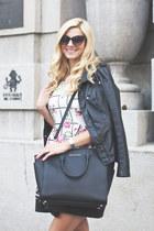 leather Michael Kors bag - cotton OASAP dress - pu New Yorker jacket