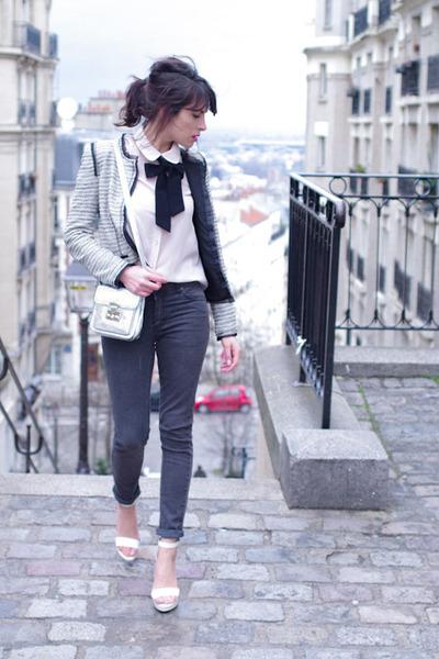 heather gray La Redoute jacket - charcoal gray Cheap Monday jeans