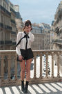 White-zara-shirt-black-zara-shorts-black-asos-shoes-black-vintage-belt-b