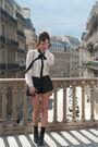 White-zara-shirt-black-zara-shorts-black-asos-shoes-black-vintage-belt-b