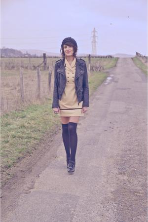 asos socks - asos shoes - yellow Urban Outfitters dress - Zara jacket