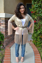 fringe cotton on cardigan