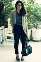Zara pants - Zara t-shirt - Zara blazer - necklace - necklace - vagabond