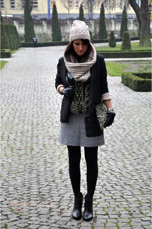 skirt Mango skirt - ankle booties Zara boots - jacket River Island jacket