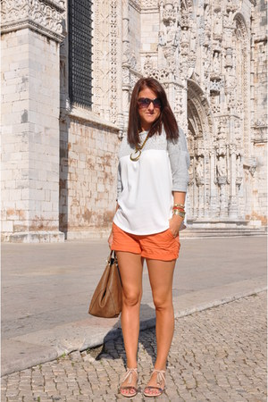 Zara top - Bershka shorts - Stradivarius sandals