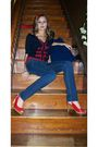 Blue-forever-21-cardigan-blue-hollister-jeans-red-fioni-shoes-red-forever-
