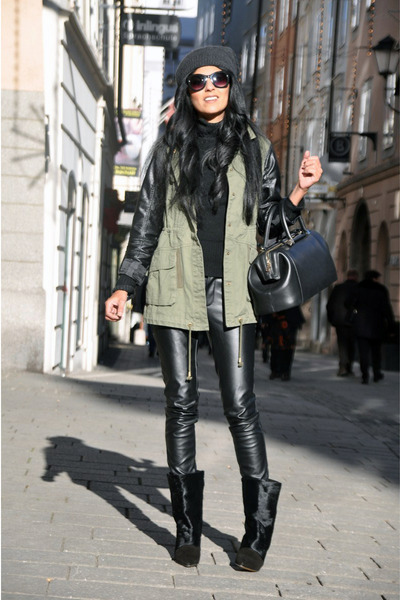 Black-lazio-isabel-marant-boots-dark-gray-beanie-h-m-hat