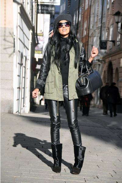 Black-lazio-isabel-marant-boots-dark-gray-beanie-h-m-hat