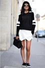 Black-sporty-zara-sweater-black-lunch-zara-bag-white-zara-shorts