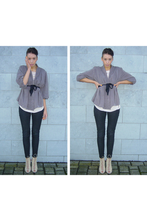 beige BLANCO shoes - gray jeans legging Only jeans