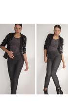 jacket - t-shirt - jeans -