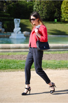 H&M blazer - Chanel bag - Zara pants
