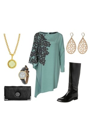 Jonak boots - Whiite dress - timex watch