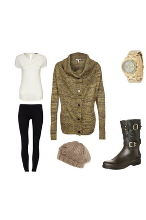 olif Dav boots - anna field hat - zwart Even&Odd leggings