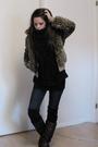 Brown-topshop-jacket-blue-nudie-jeans-brown-vintage-boots-black-zara-blous