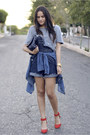Navy-denim-vintage-romper-ruby-red-zara-heels