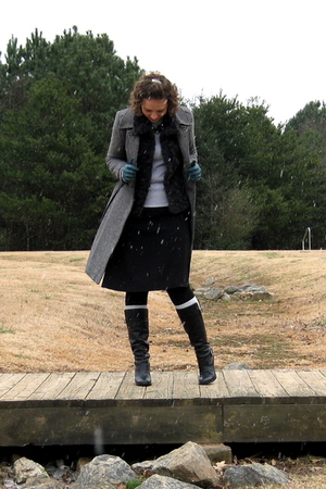 Old Navy coat - Target accessories - Zara vest - old skirt - consignment boots