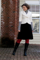 Target dress - Target top - consigned blazer - Loft tights - consigned org micha