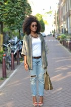 Zara jacket - Gap jeans - Zara necklace - Christian Louboutin heels