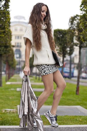 H&M skirt - Mango jacket - Adidas flats
