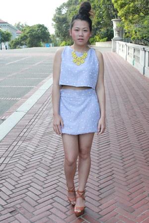 Kanyarat Tapaneeyakorn top - Kanyarat Tapaneeyakorn skirt - Forever 21 necklace