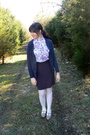 Blue-forever-21-cardigan-white-forever-21-shirt-purple-thrifted-skirt-whit