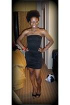 black black heels