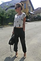 H&M top - poema shoes - Zara bag - Topshop sunglasses - Stradivarius pants