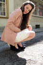 Light-pink-h-m-blazer-ivory-lace-zara-skirt-black-goertz-wedges