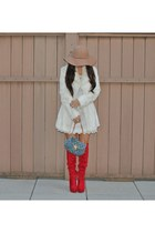 Charlotte Russe boots - H&M dress - Bebe jacket - Louis Vuitton bag