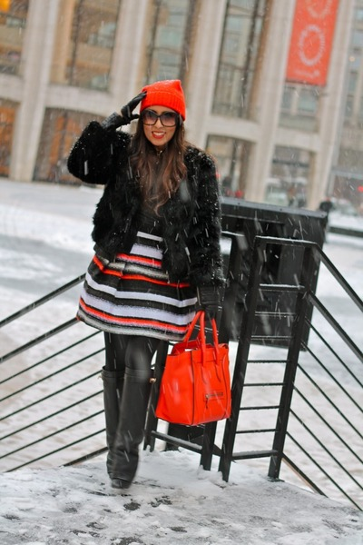 milly skirt - leather Givenchy boots - cotton banana republic hat