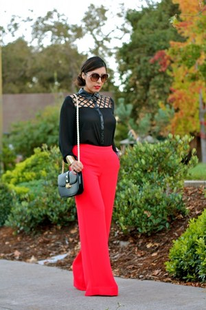 Forever 21 bag - rachel roy pants - Queens shoes & more blouse
