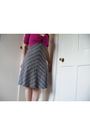 Gray-h-m-dress-pink-marks-and-spencers-cardigan-black-river-island-vest