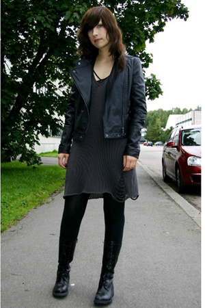 black JSFN jacket - black KenkÃrepo shoes - gray Pour dress