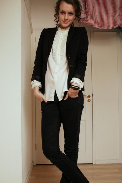 vintage blouse - H&M blazer - H&M pants