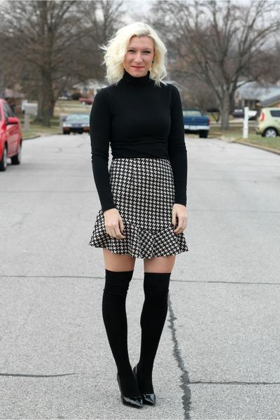 TJ Maxx skirt - H&M socks - Forever 21 top - Zara heels
