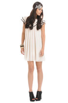 white Forever 21 dress - black Forever 21 shoes - silver Forever 21 bracelet - s
