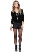 silver Forever 21 accessories - black Forever 21 boots