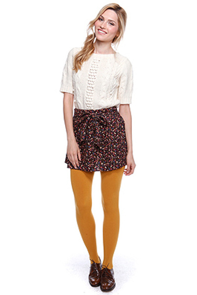 cream Forever 21 sweater - crimson Forever 21 skirt - gold Forever 21 tights - d