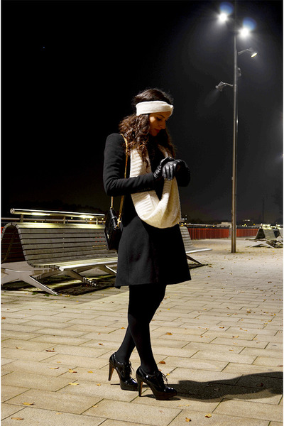 Zara coat - H&M scarf - Zara bag - headband H&M accessories