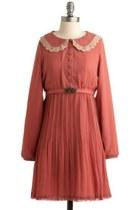 salmon vintage dress