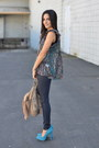 Navy-wax-coated-j-brand-jeans-tan-chain-accent-hype-bag-violet-joie-blouse